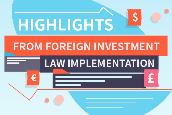 Highlights from foreign investment law implementation:null