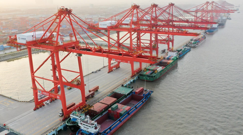 China's foreign trade up 3.4% in 2019:3