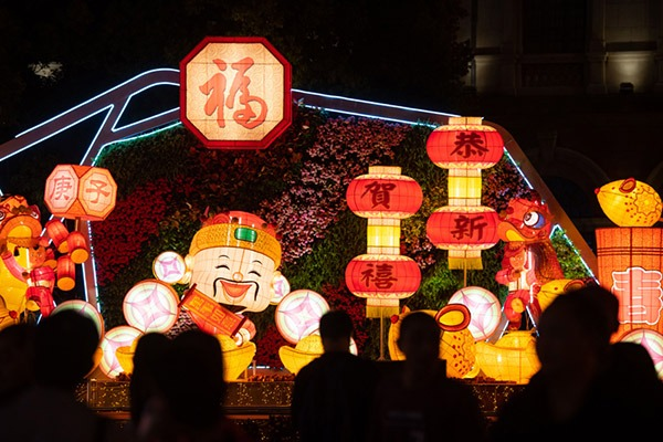 Festive lanterns in Macao:null