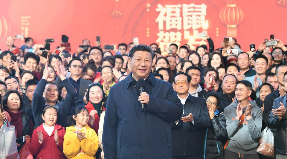 Xi inspects Spring Festival shopping fair in Kunming:0