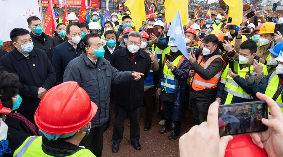 Premier inspects epidemic control work in Wuhan:0