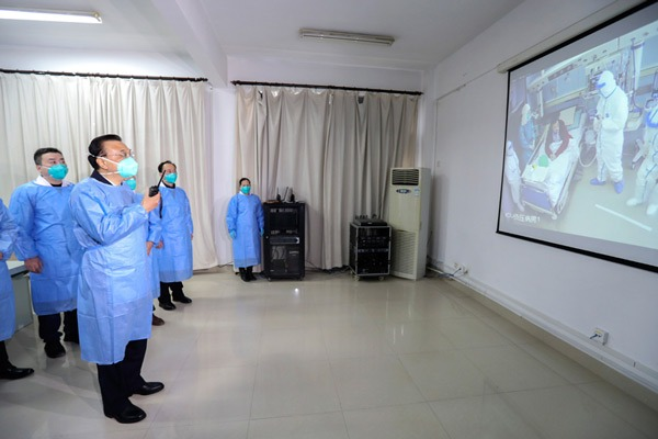 Premier Li inspects novel coronavirus control work in Wuhan:null