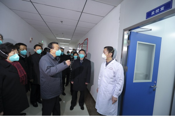 Premier Li visits lab monitoring novel coronavirus in Wuhan:null