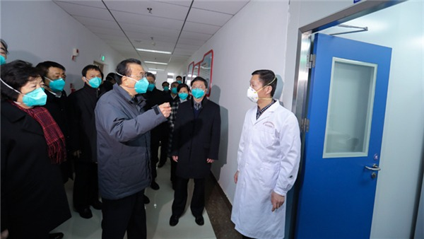 Premier Li visits lab monitoring novel coronavirus in Wuhan:0