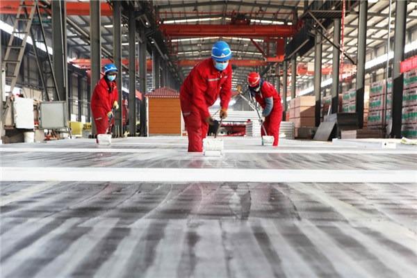 Hebei prefab construction firm speeds up work to support Hubei:null