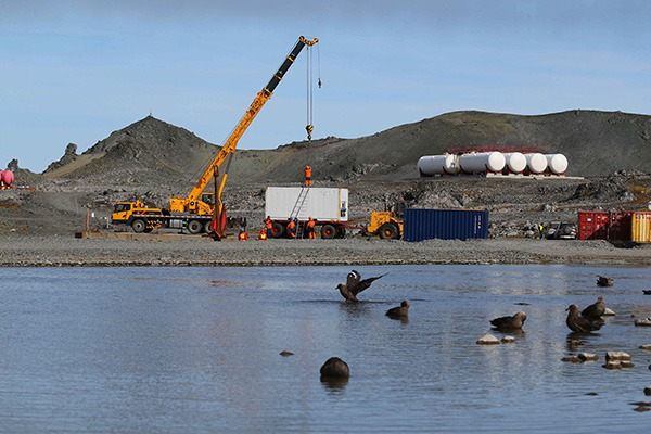 China's 36th Antarctic expedition team uploads supplies at Great Wall station:null