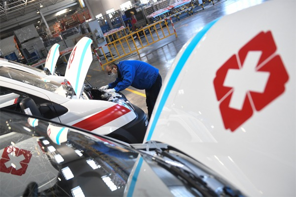 Motor company rushes to make negative pressure ambulances in Wuxi:null