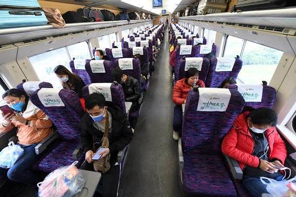 Customized train carries returning workers from Baise to Guangdong:null
