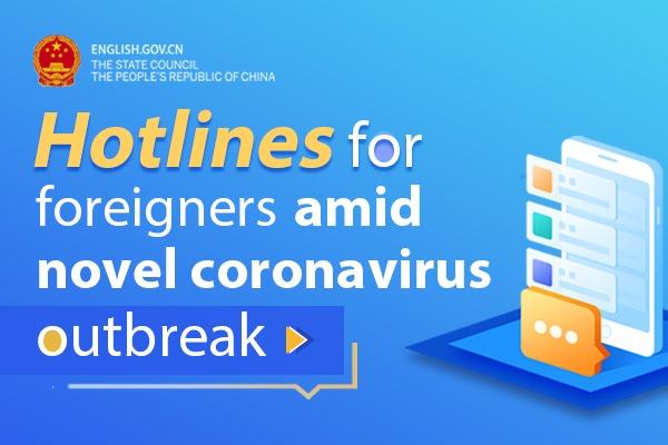 Hotlines for foreigners amid novel coronavirus outbreak:null