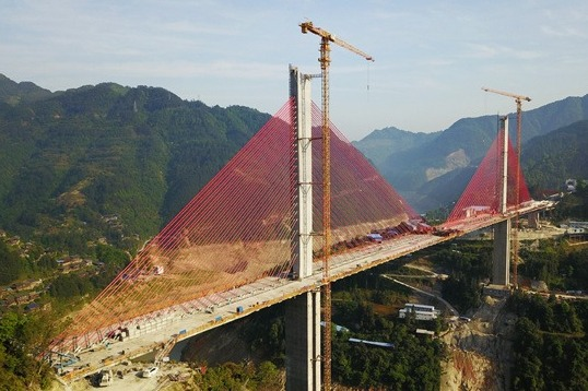 Qingshuijiang bridge in Guizhou to open to traffic in late June:null