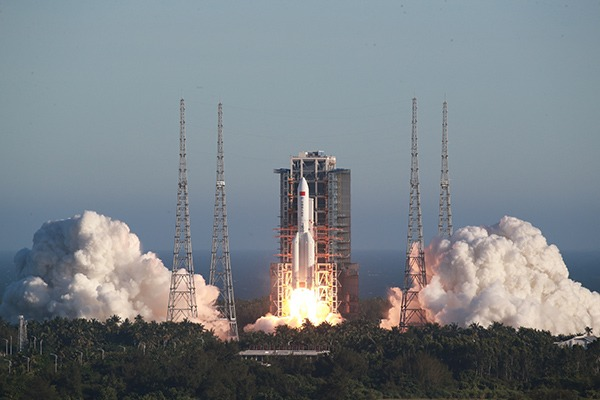 China launches new Long March-5B rocket for space station program:null