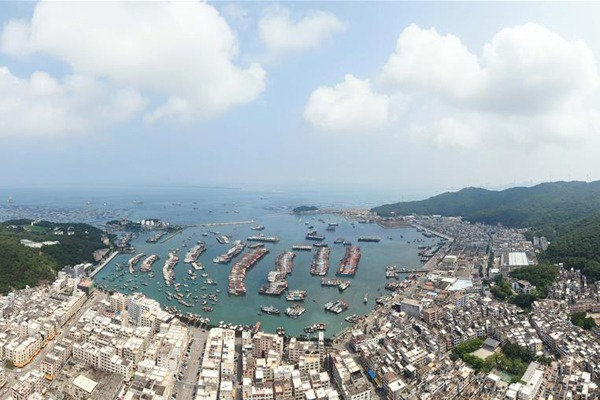 Aerial view of Hailing Island in Yangjiang, S China:null