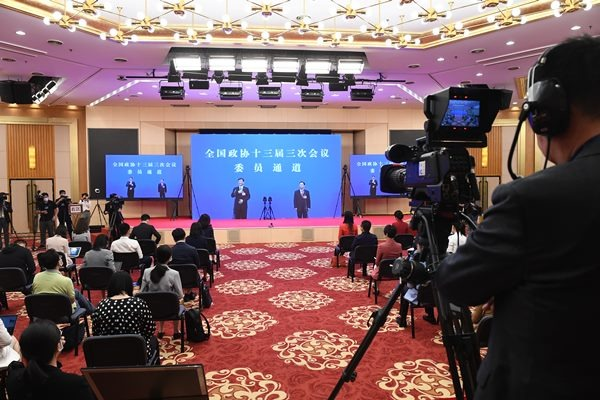 Members of 13th National Committee of CPPCC give interviews via video link:null
