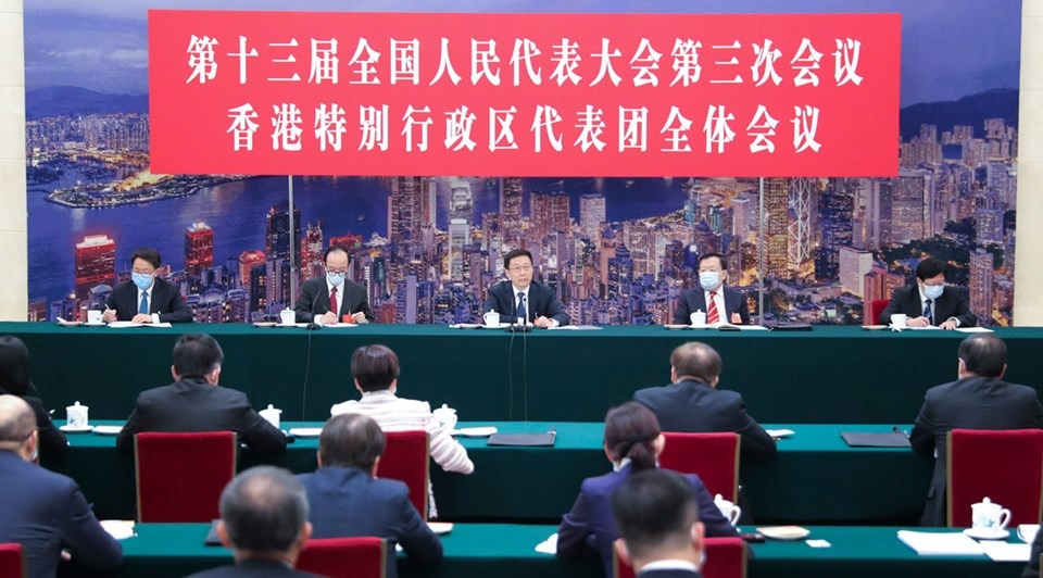 Vice-premier joins deliberations by NPC deputies from HK:2