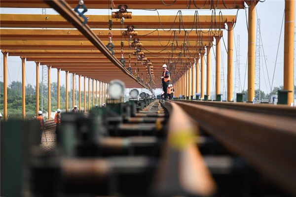 Construction site of Hefei-Anqing high-speed railway:null