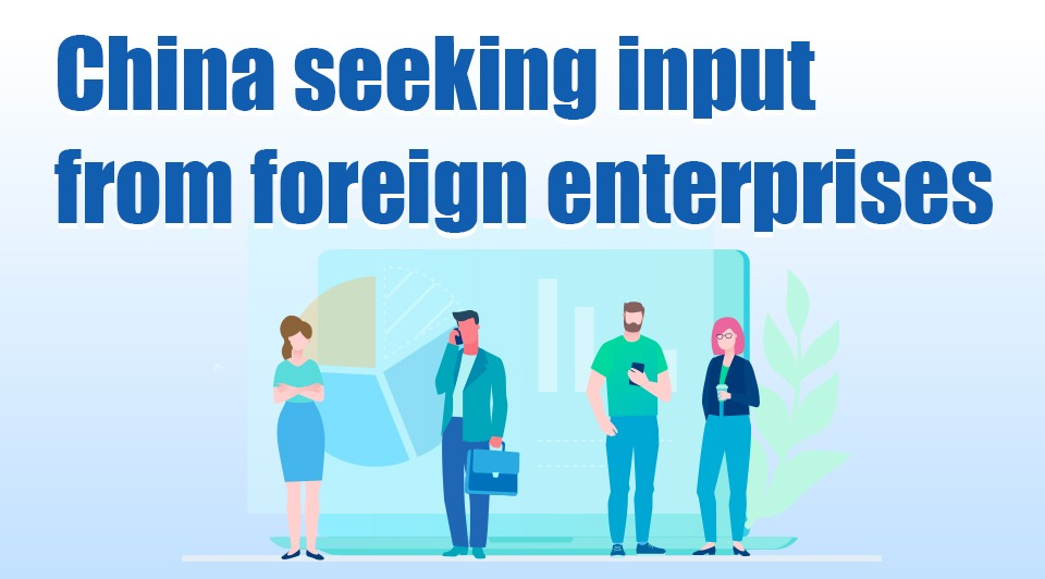 China seeking input from foreign enterprises:2