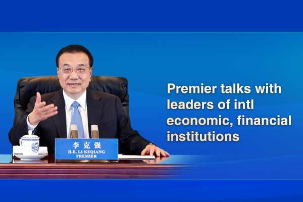 Premier talks with leaders of intl economic, financial institutions:0