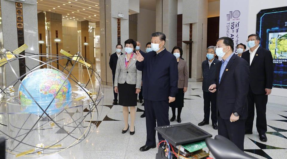 Xi visits Tsinghua University ahead of its 110th anniversary:0
