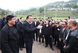 Premier Li inspects Sichuan province:2