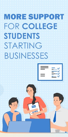 More support for college students starting businesses