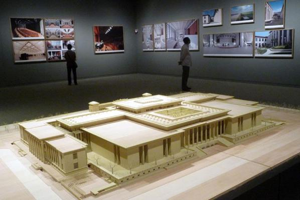 The Architectural Model Of National Museum China Is On Display In After Its Re Opening 2012Photo By Wen Bao For Daily
