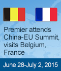 Premier attends China-EU Summit, visits Belgium, France